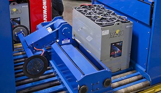 Forklift Battery Handling System